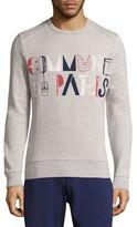 Commune De Paris Pochoir Cotton Logo Sweatshirt