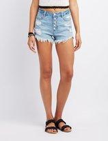Destroyed Denim Shorts - ShopStyle