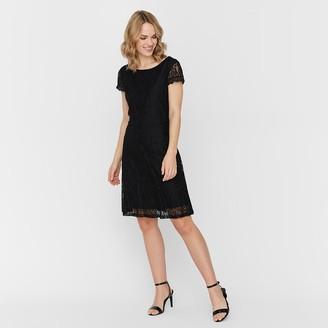 Vero Moda Lace Mini Dress with Short Sleeves
