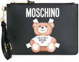Moschino toy bear paper cut out clutch - women - Leather/Polyester - One Size