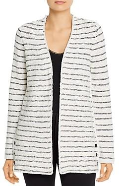 Nic+Zoe Textured Striped Cardigan
