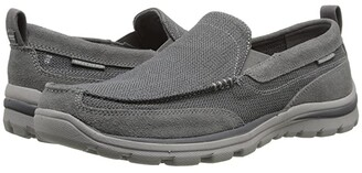Skechers Relaxed Fit Superior - Milford (Black) Men's Slip on Shoes