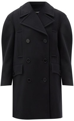 Givenchy Double-breasted Felted-wool Pea Coat - Black