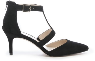 Sole Society Women's Edelyn T Strap Pumps Black Size 5 Suede From