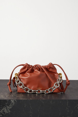 Yuzefi Bom Mini Chain-embellished Leather Tote - Tan