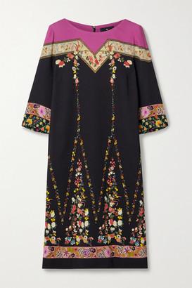 Etro Floral-print Crepe De Chine Dress - Black