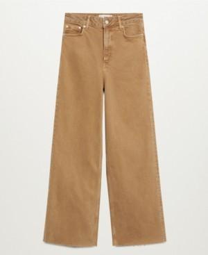 MANGO Women's Wide Leg High Waist Jeans