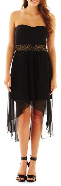 Trixxi Embellished High-Low Dress