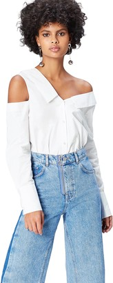 Amazon Brand - find. Women's Long Sleeve Asymmetric Collar and Relaxed Cut