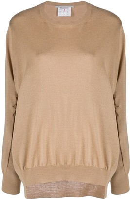 Stella McCartney Fine-Knit Asymmetric-Hem Jumper