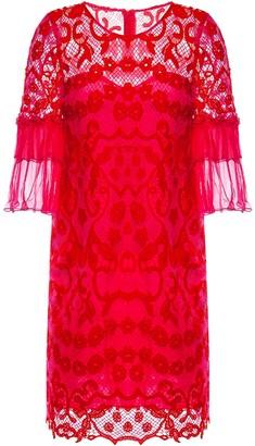 Nissa Ruffled Sleeve Lace Dress