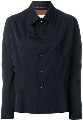 Yohji Yamamoto Pre Owned Concealed Detail Fitted Shirt