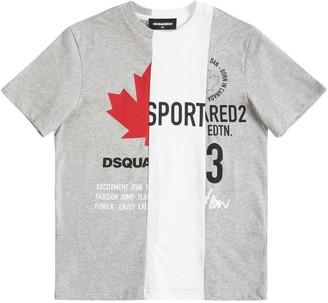 DSQUARED2 Stripes Cotton Jersey T-Shirt