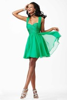 Jovani Surplice Sweetheart Chiffon A-Line Cocktail Dress JVN94200