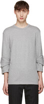 Comme des Garcons Grey Accent Sleeve Pullover