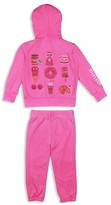 Butter Shoes Girls' Sweets Embellished Fleece Hoodie & Sweatpant Set - Sizes 2-4