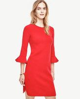 Ann Taylor Tall Fluted Sleeve Dress