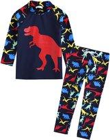 Vaenait Baby 2T-7T Kids Boys UPF 50+ Rashguard Swimsuit Set L