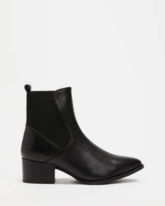 Atmos & Here Atmos&Here - Women's Black Chelsea Boots - Monte Leather Ankle Boots - Size 5 at The Iconic