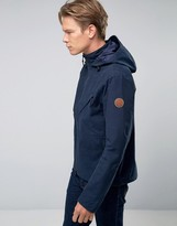 Timberland Hooded Windbreaker Jacket Water Resistant In Navy