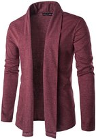Whatlees Unisex Long Line One Button Cardigan Outwear Coat -XL