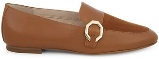 Cole Haan Teresa Leather Suede Panel Loafers