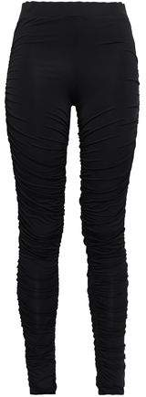 Ninety Percent Ruched Stretch-jersey Leggings
