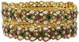 Matra Goldtone Indian Women 2 Pcs Screw Lock Kada Bangle Set Traditional Party Jewelry