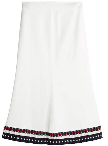 Victoria Beckham Skirt with Contrast Hem