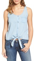 AG Jeans Women's The Cynthia Cotton Chambray Tank