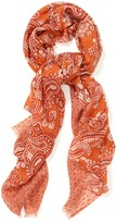 J.Mclaughlin Caren Wool Scarf in Bead Paisley