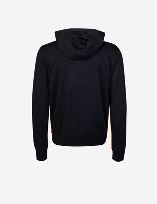 Paul Smith Striped-trim drawstring wool hoody