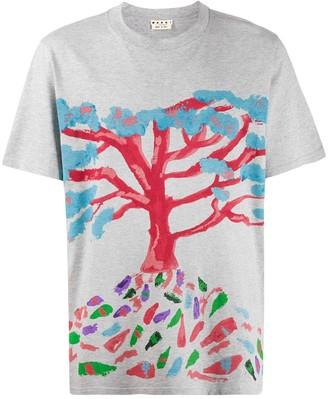 Marni tree print T-shirt