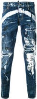 DSQUARED2 distressed graffiti jeans
