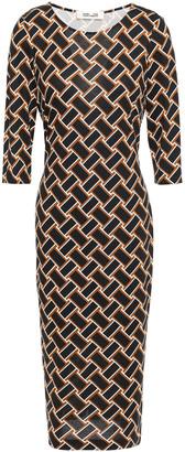 Diane von Furstenberg Printed Silk-jersey Dress