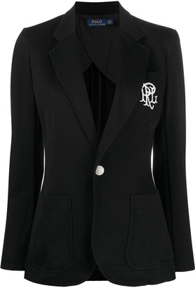 Polo Ralph Lauren Embroidered Logo Single-Breasted Blazer