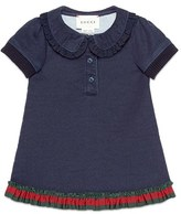 Gucci Toddler Girl's Ruffled Peter Pan Collar Pique Dress