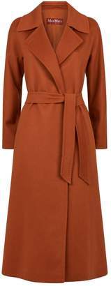 Max Mara Long Cashmere Belted Coat