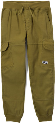 Beverly Hills Polo Club Boys' Casual Pants LODEN - Olive Green Twill Joggers - Toddler & Boys