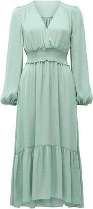 Ever New Eloise Long-Sleeve Tiered Midi Dress