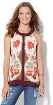 New York & Co. Tulip-Back Halter Blouse - Floral