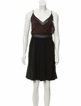 Prada Silk Pleated Dress w/ Tags Black