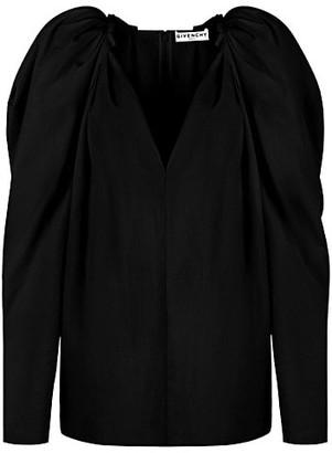 Givenchy Cotton Poplin Puff-Sleeve Shirt