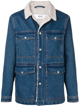 Ami Paris Sherpa Lining Denim Jacket