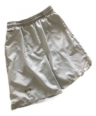 Nike White Polyester Shorts