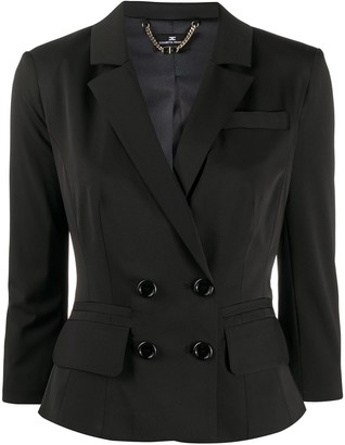 Elisabetta Franchi Fitted Cropped Sleeve Blazer