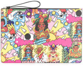 Bally print wristlet clutch bag