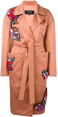 Rochas Embroidered Trench Coat