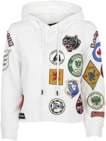 DSQUARED2 White/multicolor Patch Pullover Hoodie