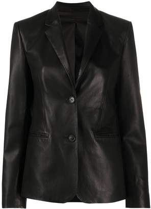 Helmut Lang Fitted Long Sleeve Blazer